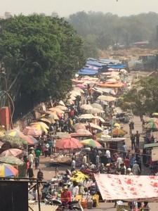 Market outside Jammu Masjid, Delhi
