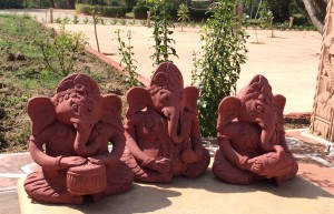 Three Ganeshas